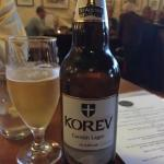 Cornish Lager complimented the meal