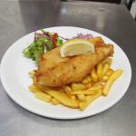 Classic and understated freshly battered fish and chips