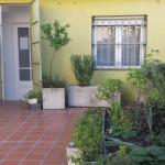 Terraço com horta para uso dos hospedes.