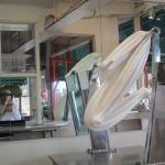 Several times a day, you can watch a fresh batch of salt water taffy being made.