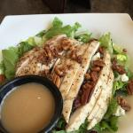 Pecan chicken bleu cheese salad