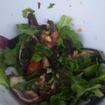 An almost finished salad!  There was so much!