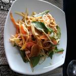 Green mango salad with smoked fish