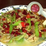 Shichuan pork soup with home made noodles