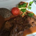 Beef filet with the divine blue cheese sauce
