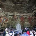 Baoding Mountain Carved Stone Foto