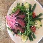 special marinated steak salad