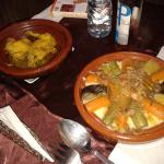 Delicious vegetable couscous with lamb tagine cooked by Said's wife