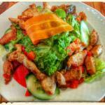 Mixed Salad with Roast Turkey Chunks