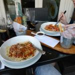 Nice meal outside in Summer