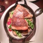 Crispy Skin Salmon with Clams