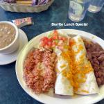 Burrito Special with green sauce on side