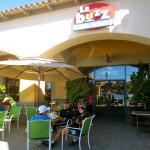 Outdoor seating in shade or sun