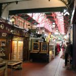 Inside the arcade.