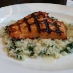 Grilled Norwegian Salmon & Spinach Risotto @ Piazza Sorrento, 16 Briarcrest Square, Hershey, PA