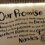 Their promise written at the entrance.