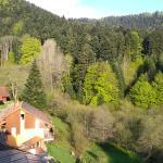 vue depuis le balcon de la chambre 25, au petit matin