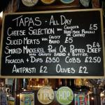 The County & Station Tapas Menu - available all day every day.