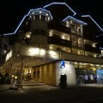 hotel front by night