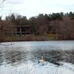 The Club overlooks the lake