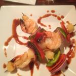 Cha Cha's - grilled shrimp & pineapple