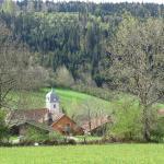 Vue depuis le haut du village