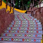 Steps from the pool to the gardens
