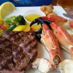 Stone crab and steak. expensive!