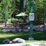 BBQ and patio at Vail Racquet Club