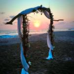 Archway for Wedding Ceremony on the beach