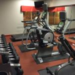 Exercise room was clean and had a good mix of equipment.