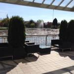 Nice weather, but patio was officially closed. This outdoor option for food and beverage service
