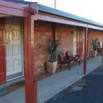 Front view of motel rooms
