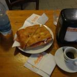 Crudo and MOzzarella focaccia