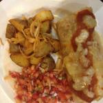 The breakfast egg & cheese burrito.