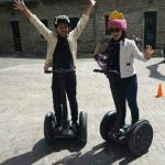 After the segway ride. The helmets provide were awesome