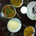 Indian food at supyar mahal
