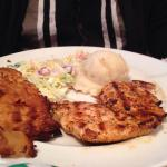 Spinach pie and grilled chicken