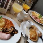 HUGE breakfast - pancakes were devine