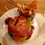Celtic Burger with fries