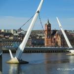 Peace Bridge across the River Foyle