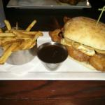 The closer sandwich with fries & gravy