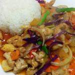 Thai sweet & sour crispy chicken  with steamed rice