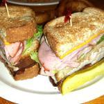 A terrific Turkey Club sandwich.