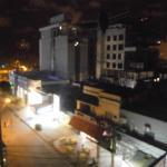 Resistencia, de noche, desde el hotel