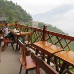 Eating on the restaurant balcony