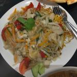 Crispy Egg Noodle with Chicken and Vegetable
