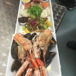 Seafood Platter served with chilled Prosecco