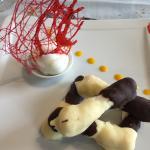 Dessert chocolat noix de coco