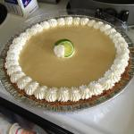 Our homemade key lime pie